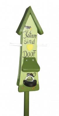 Futtertürmchen spezial Katzen sind doof hellgrün