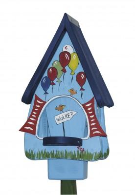 Futterhaus mit Silo - Futtervilla klein Wolke 7 hellblau