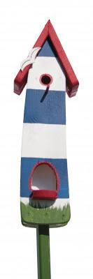 Minivilla 2 Spezial Leuchtturm, blau-weiß