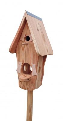 Kombiniertes Vogelhaus - Minivilla 1 Lärche Natur