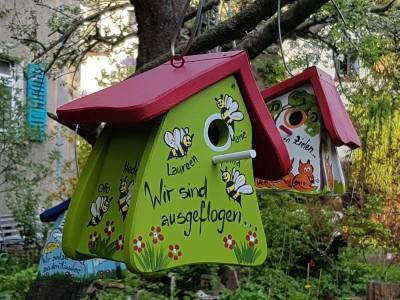 Nistkasten - Nistmini Bienen kiwigrün - personalisiert