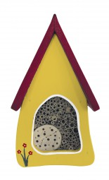 Insektenvilla klein Wandmontage, gelb