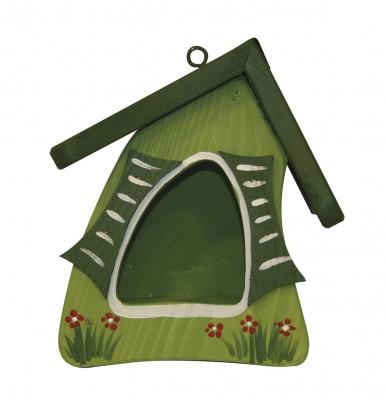Futtermini Hobbit, hellgrün mit dunkelgrünen Fensterläden