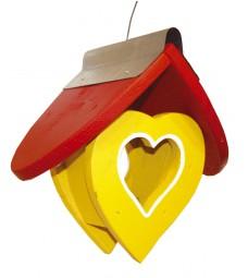 Lichtvilla Herz, gelb