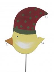 Knödelvogel groß, Mütze rot-grün gepunktet