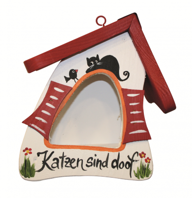 "Futterhaus ""Futtermini Katzen sind doof & Katerfrühstück"""