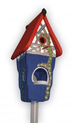Kombiniertes Vogelhaus - Minivilla 1 Fachwerk dunkelblau