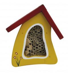 Insektenvilla Mini Wandmontage, gelb